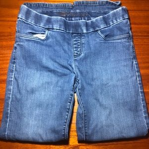 Lee style up pull on boot cut jeans